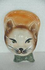 Vintage Unique Cat Face Handcrafted Fine Quality Ceramic Flower Vase