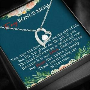 To My Mother in law Birthday Gift - Forever Love Heart Necklace for Mother's Day