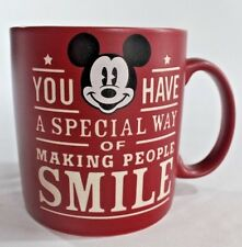 Mickey Mouse Disney Red Lg 20 oz Mug Etched Special Way of Making People Smile