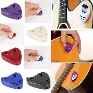 10 PCs Guitar Pick Holder Case Box With Self Adhesive Plectrum Heart Shaped