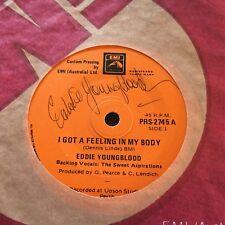 EDDIE YOUNGBLOOD - -I Got a Feeling in my Body -Rare Oz EMI CUSTOM Elvis Presley
