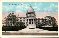 Vtg 1920's State Capitol Building, Jackson Mississippi MS Postcard
