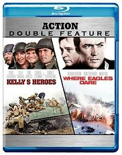 KELLY'S HEROES / WHERE EAGLES DARE  BLU RAY DOUBLE 2 DISCS CLINT EASTWOOD