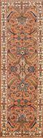 "Geometric Heriz Serapi Oriental Runner Rug Hand-knotted Wool Carpet 2' 6""x8' 0"""