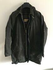 Mens Barbour Border wax jacket Dark Blue coat 38 in size Medium / Large M/L #3