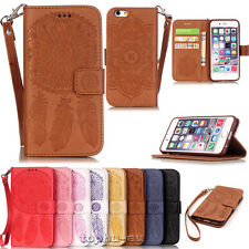 For Apple iPhone 7 6S Plus Case Mandala Pattern Print Wallet Leather Flip Cover