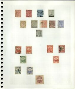 Bermuda QV-KGV Album Page Of Stamps #V18956