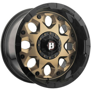 "Ballistic 968 Shield 20x10 6x135/6x5.5"" +0mm Bronze Wheel Rim 20"" Inch"
