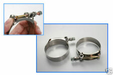T-Bolt Stainless Clamps For Car Hose Pipe Plumbing 1.9-2.2inch / 47-55mm 2pcs