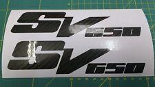 2x Suzuki SV650 SV650S Carbon Fibre Decal Sticker Motorcycle Vinyl SV1000