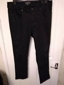 PREOWNED LADIES MARKS AND SPENCER PER UNA BLACK JEANS SIZE 16 LEG 29