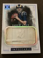 2016 impeccable football Jared Goff Rc 02/15 1 Troy Ounce Silver