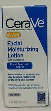 CeraVe Facial Moisturizing Lotion AM SPF 30 Oil Free 2 oz Expire 2021