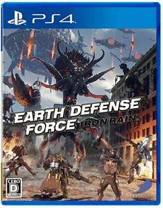 EARTH DEFENSE FORCE- IRON RAIN- PS4 Japan Game NEW