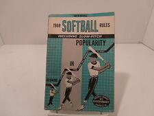 1968 Softball rules, Louisville Slugger bats, sports collectible