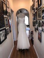 WTOO Brides Watters Wedding Dress Size 8 MSRP $4500