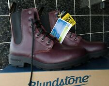 BLUNDSTONE 1365 Burgundy Brown Leather Boots Lace-Up UK 7 .5 NEW RRP £130