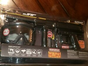 JT Outkast Paintball Gun RTP Ready to Play Package Kit - Marker Mask Paint Tank
