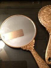 Hand Held Copper Antique Design Mirror