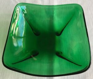Forest Green Square Bowl, Anchor Hocking