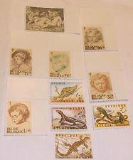 Belgium Stamp B747-52, B779-82 MNH Cat $4.25