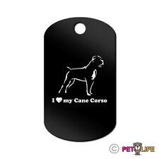 I Love My Cane Corso Engraved Keychain Gi Tag dog v2 Many Colors