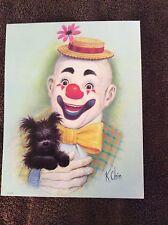 8x10  Clown  Illustrated art print by K Chin