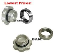 Fuel Tank CNC Billet Filler Cap With Steel Weld-On bung Fitting -2 Pack