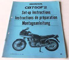 Istruzioni di montaggio negozio Manual set-up instructions HONDA CB 750 f2