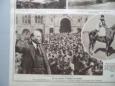 1921 Moskau Lenin spricht zu Rotgardisten Caruso tot