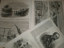 Suez Canal Egypt works progress and views in the area 1863 old prints