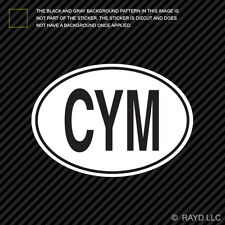 CYM Wales Country Code Oval Sticker Decal Self Adhesive Welsh euro