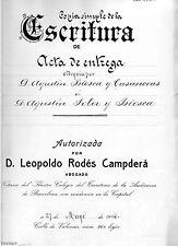 DOCUMENTO ANTIGUO DE 1914 · COMPAÑÍAS DE FERROCARRILES