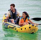 Intex Explorer K2 Kayak, 2-Person Inflatable Kayak with Aluminum Oars & Air Pump