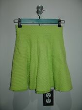 Divided by H & M Women's 4 (22-25x15) Lime Green Textured Flowy Skirt 125-10332