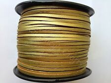 Faux Suede Flat Leather Smooth Cord Lace String 100 yards roll 3mm