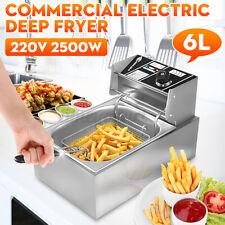 Friteuse Fritteuse Edelstahl Fritöse Elektrische Kaltzonen 6 L Frittieren 2500 W