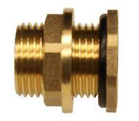 "BBF020 Brass Bulkhead Tank Fitting(Female 1/2"" Pipe Male 3/4"" NH Garden Hose)"