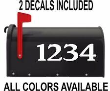 Custom Numbers Vinyl Mailbox Decal - Set Of 2 - 3x7