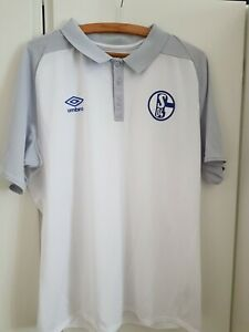 FC Schalke 04 Poloshirt weiss Gr. XL gebraucht, wie neu,