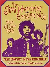 "Jimi Hendrix Golden Gate 16"" x 12"" Photo Repro Concert Poster"