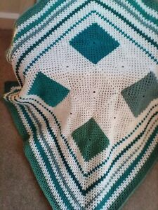 NEW HAND CROCHETED PATCHWORK BLANKET OR THROW