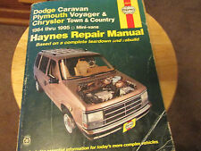 HAYNES MANUAL # 30010 Dodge Caravan /Voyager/ Town & Country 1984 -1995 CHILTONS