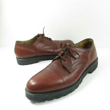 VTG Knapp Leather Mens Size 11 D Oil Resistant Non-Marking Brown Casual Working