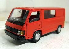 Pilen 1/50 Scale Vintage Mercedes Benz van in red diecast model van