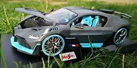 Bugatti Divo Grey and Blue matt - Diecast Model Car MAISTO 1:18 Scale excellent