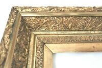 "BIG ANTIQUE FITS 14 X 20"" GOLD PICTURE FRAME WOOD GESSO ORNATE FINE ART COUNTRY"