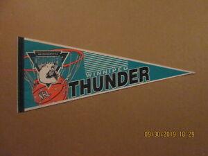 NBL Winnipeg Thunder Vintage Defunct Circa 1993 Team Logo Basketball Pennant