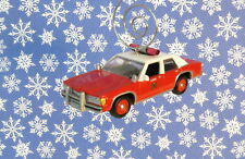 Custom Christmas Ornament 1/64 Scale Red 1990 '90 Ford Fire Chief Car