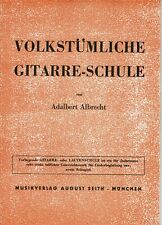 Gitarrennoten,Volkstümliche Gitarre-Schule,Adalbert Albrecht